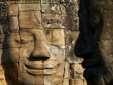 Detail of Sculpture, Bayon Temple, Dating From the 13Th Century, Angkor, Siem Reap, Cambodia Photographic Print