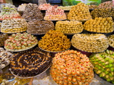 Sweets For Sale in the Souk of Meknes, Morocco, North Africa, Africa Photographic Print by Michael Runkel
