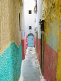 Street in the Kasbah, Tangier, Morocco, North Africa, Africa Fotografie-Druck von Nico Tondini
