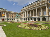 Rear Entrance to the Hungarian National Gallery With Equestrian Statue, Budapest, Hungary, Europe Photographic Print by Neale Clarke