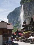 Staubbach Falls in Lauterbrunnen, Jungfrau Region, Switzerland, Europe Photographic Print by Michael DeFreitas
