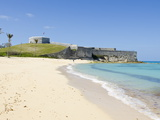 Gate's Bay (St. Catherine's Beach) With Fort St. Catherine in Background, Bermuda Photographic Print by Michael DeFreitas