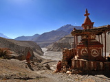 Chortens (Stupas) in Tangbe Village, Mustang, Nepal, Asia Photographic Print