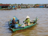 Floating Vietnamese Village, Lake Tonle Sap, UNESCO Biosphere Reserve, Cambodia, Indochina Photographic Print