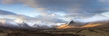 Panoramic View Across Rannoch Moor Towards Mountains of the Black Mount Range, Scotland Fotografisk tryk af Lee Frost
