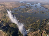 Victoria Falls, UNESCO World Heritage Site, Zambesi River, on the Border of Zambia and Zimbabwe Photographic Print by Sergio Pitamitz