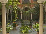 Beautiful Sevillan Patio, Triana District, Sevilla, Andalusia, Spain, Europe Photographic Print by Guy Thouvenin