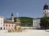 Residenzplatz, Salzburg, Austria, Europe Photographic Print by Jochen Schlenker