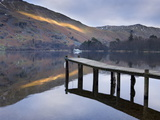 Jetty on Ullswater at Dusk, Glenridding Village, Lake District National Park, Cumbria, England, Uk Photographic Print by Lee Frost