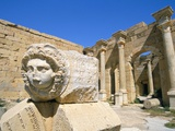 Gorgon Head, Severan Forum, Leptis Magna, UNESCO World Heritage Site, Tripolitania, Libya Photographic Print by Sergio Pitamitz