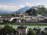 View of the Old Town and Fortress Hohensalzburg, Seen From Kapuzinerberg, Salzburg, Austria, Europe Fotografisk tryk af Jochen Schlenker