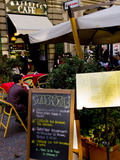 Street Cafe, Milan, Lombardy, Italy, Europe Photographic Print by Charles Bowman