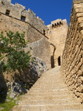 Citadel and Acropolis of Lindos, Rhodes, Dodecanese, Greek Islands, Greece, Europe Photographic Print