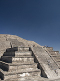 Tourists Climbing Steps, Pyramid of the Moon, Archaeological Zone of Teotihuacan, Mexico Photographic Print by Richard Maschmeyer