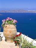 Fira, Island of Santorini (Thira), Cyclades Islands, Aegean, Greek Islands, Greece, Europe Fotografisk tryk af Sergio Pitamitz