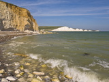 View of the Seven Sisters, Hope Gap Beach, Seaford Head, East Sussex, England Photographic Print by Neale Clarke