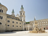 Residenzplatz, Salzburg, Austria, Europe Photographic Print by Jochen Schlenker