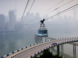 Cityscape With Cable Car, Chongqing City, Chongqing, China, Asia Photographic Print by Charles Bowman
