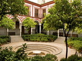 Venerables Hospital, Inner Courtyard With Fountain, Old Town, Sevilla, Andalucia, Spain, Europe Photographic Print by Guy Thouvenin