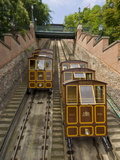 Buda Castle Funicular Railway, Castle District, Pest Side of the Danube, Central Budapest, Hungary Photographic Print by Neale Clarke