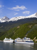 Cruise Ships Docked in Skagway, Southeast Alaska, United States of America, North America Photographic Print by Richard Cummins