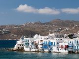 Little Venice, Mykonos Town, Chora, Mykonos, Cyclades, Greek Islands, Greece, Europe Photographic Print by Sergio Pitamitz