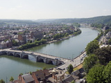 River Meuse, Panoramic City View, Namur, Wallonia, Belgium, Europe Photographic Print by Christian Kober