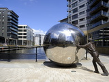 Stainless Steel Sculpture By Kevin Atherton, Clarence Dock, Leeds, West Yorkshire, England, Uk Photographic Print by Peter Richardson