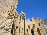 Severan Basilica, Leptis Magna, UNESCO World Heritage Site, Tripolitania, Libya, North Africa Fotografisk tryk af Sergio Pitamitz