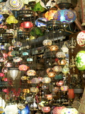Lamps, Grand Bazaar, Istanbul, Turkey, Europe Photographic Print