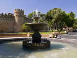 Fountain at the Gated City Wall, UNESCO World Heritage Site, Baku, Azerbaijan, Central Asia, Asia Photographic Print by Michael Runkel