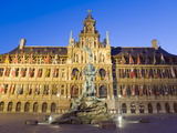 Baroque Brabo Fountain, Built in 1887, By Jef Lambeaux, Stadhuis (City Hall), Flanders, Belgium Photographic Print by Christian Kober