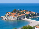 Sveti Stefan, Seaside Resort in Western Montenegro, Europe Photographic Print by Michael Runkel