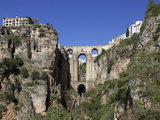 Tajo Gorge and New Bridge, Ronda, Malaga Province, Andalucia, Spain, Europe Photographic Print by Jeremy Lightfoot