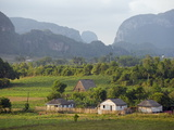 Farm Houses and Mountains, Vinales Valley, Cuba, West Indies, Caribbean, Central America Photographic Print by Christian Kober