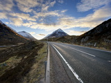 A82 Trunk Road Heading Across Rannoch Moor Towards Glencoe, Scotland Photographic Print by Lee Frost