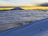 View From Volcan Cotopaxi, 5897M, Highest Active Volcano in the World, Ecuador, South America Fotografie-Druck von Christian Kober