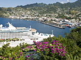 Sea Princess in Kingstown Harbour, St. Vincent, St. Vincent and the Grenadines, Windward Islands Photographic Print by Michael DeFreitas