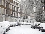 London Street in Snow, Notting Hill, London, England, United Kingdom, Europe Photographic Print by Mark Mawson