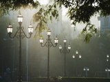 Street Lamps, Buenos Aires, Argentina, South America Photographic Print by Christian Kober