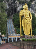 Batu Caves, Hindu Shrine, With Statue of Lord Muruguan, Selangor, Malaysia, Southeast Asia, Asia Photographic Print by Jochen Schlenker