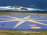 Tile Compass Near the Tower of Hercules Lighthouse, La Coruna City, Galicia, Spain, Europe Photographic Print by Richard Cummins
