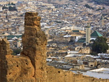 Elevated View Over the Medina, Fez (Fes), Morocco, North Africa, Africa Photographic Print by Guy Edwardes