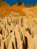 Red Tsingys, Strange Looking Sandstone Formations, Near Diego Suare (Antsiranana), Madagascar Photographic Print by Michael Runkel