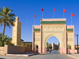 Entrance Gate to the Desert Town of Rissani, Morocco, North Africa, Africa Photographic Print by Michael Runkel