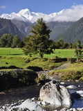 Mount Tasman and Cook Flat, Westland Tai Poutini National Park, UNESCO World Heritage Site, NZ Photographic Print by Jochen Schlenker