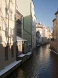 Snow-Covered Section of Certovka Canal Known As Prague's Venice, Mala Strana, Prague Photographic Print by Richard Nebesky