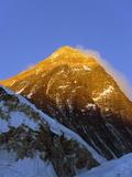 Sunset on Mount Everest, 8850M, Solu Khumbu Everest Region, Sagarmatha National Park, Himalayas Photographic Print by Christian Kober