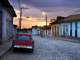 View Along Cobbled Street at Sunset, Trinidad, UNESCO World Hertitage Site, Cuba Photographic Print by Lee Frost