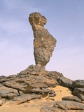 Rock Formation Called 'The Finger of Allah', Akakus, Sahara Desert, Fezzan, Libya, North Africa Photographic Print by Sergio Pitamitz